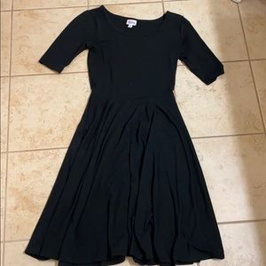 Black lularoe fit and flair dress